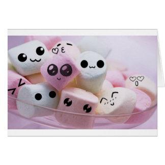 cute smiley face marshmallows card