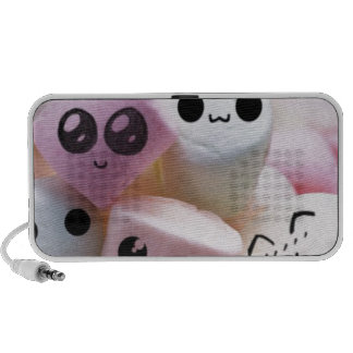 cute smiley face marshmallows notebook speakers