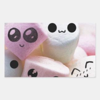 cute smiley face marshmallows sticker