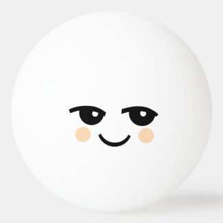 CUTE SMILEY FACE ONE STAR PING PONG BALL