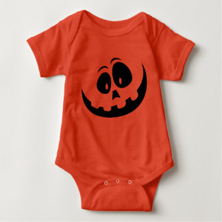 Cute Smiley Jack-o-lantern Halloween Baby bodysuit