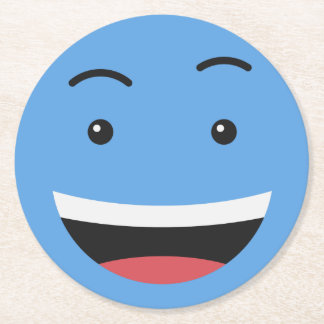 Cute Smiley paper coasters 7/9