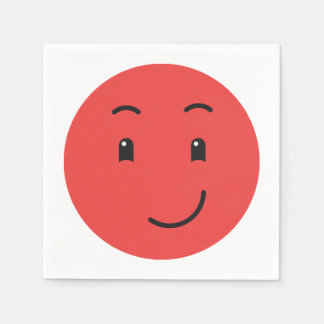 Cute Smiley paper napkins 1/9