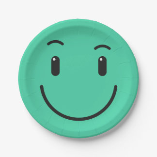 Cute Smiley paper plates 2/9