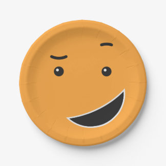 Cute Smiley paper plates 9/9