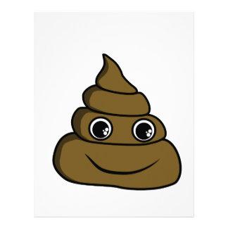 cute smiley poop letterhead