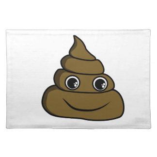 cute smiley poop placemat