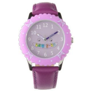Cute Smiley Toothy Mouth Kids Watch