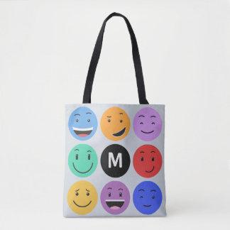 Cute Smileys custom monogram bags