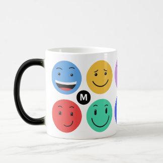 Cute Smileys custom monogram mugs