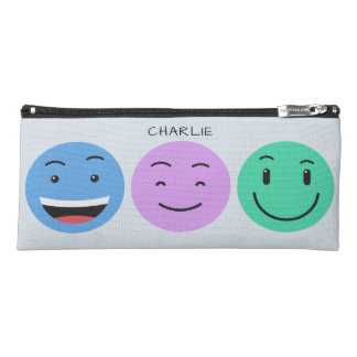 Cute Smileys custom name pencil case