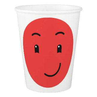 Cute Smileys custom text paper cups 1/9