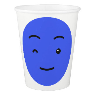 Cute Smileys custom text paper cups 3/9