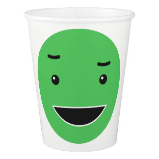 Cute Smileys custom text paper cups 5/9