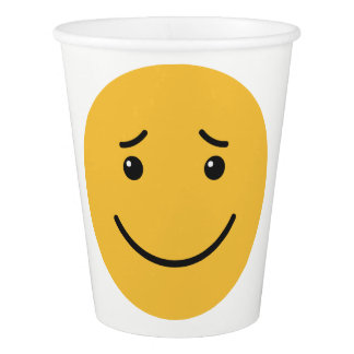 Cute Smileys custom text paper cups 6/9