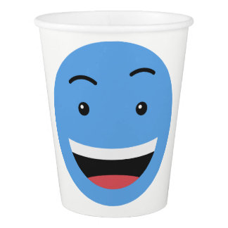 Cute Smileys custom text paper cups 7/9
