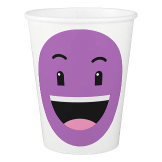Cute Smileys custom text paper cups 8/9