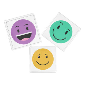 Cute Smileys tray set 2/2