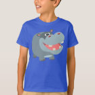 Cute Smiling Cartoon Hippo Children T-Shirt