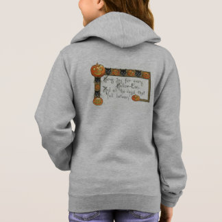Cute Smiling Jack O Lantern Black Cat Hoodie