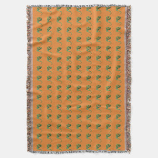 Cute Smiling Jack O Lantern Pumpkin Ghost Throw Blanket