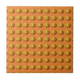 Cute Smiling Jack O Lantern Pumpkin Tile