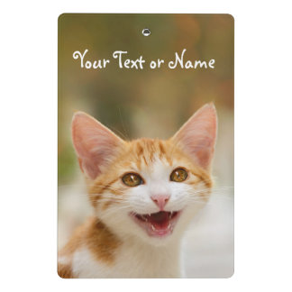 Cute Smiling Kitten Funny Cat Meow - Personalized