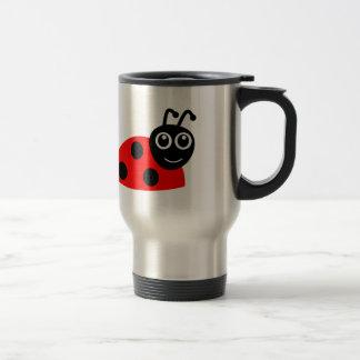 Cute Smiling Ladybug Cartoon Travel Mug