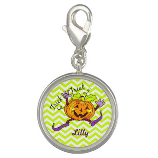 Cute Smiling Pumpkin Halloween Photo Charms