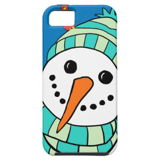 Cute Smiling Snowman iPhone 5 Covers