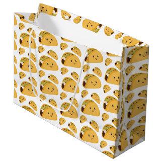 Cute Smiling Taco Pattern Gift Bag