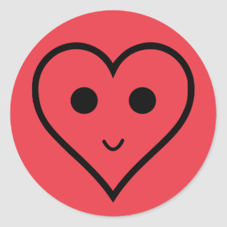 Cute Smily HEART Round Sticker