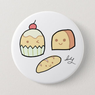 Cute Snacks - Badge (3'') 3 Inch Round Button
