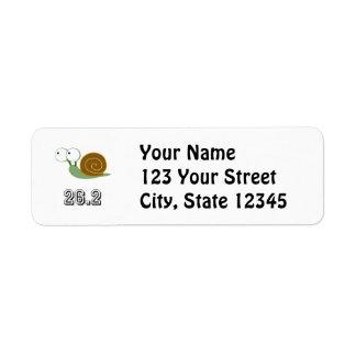 Cute Snail 26.2 (marathon) Return Address Label