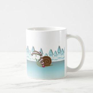 Cute Snail in Sleeping Cap Mugs