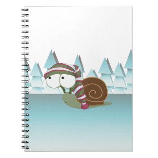 Cute Snail in Sleeping Cap Spiral Note Book