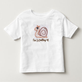 Cute snail kids shirt