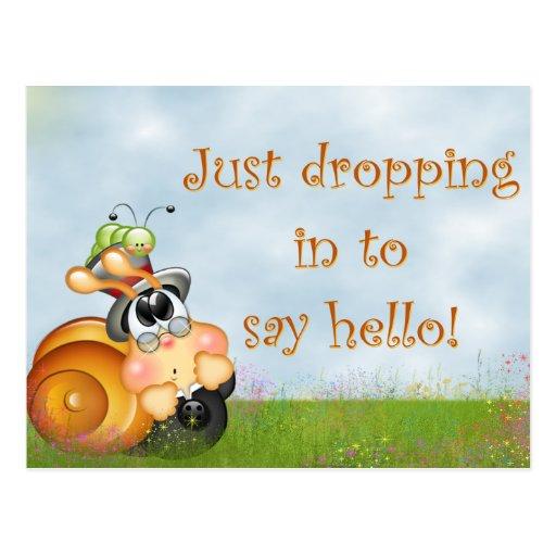 Cute Snail Postcard