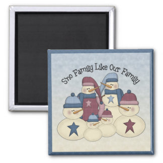 Cute Snow Family Magnet
