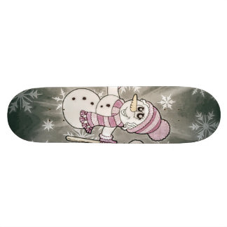 Cute Snow Lady Custom Skate Board