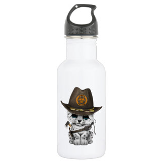 Cute Snow Leopard Cub Zombie Hunter 532 Ml Water Bottle