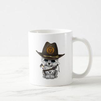 Cute Snow Leopard Cub Zombie Hunter Coffee Mug