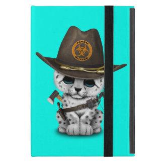 Cute Snow Leopard Cub Zombie Hunter Cover For iPad Mini
