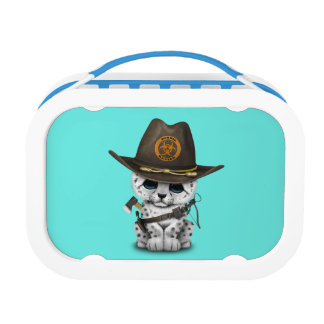 Cute Snow Leopard Cub Zombie Hunter Lunch Box