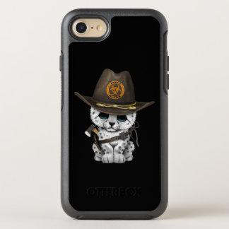 Cute Snow Leopard Cub Zombie Hunter OtterBox Symmetry iPhone 8/7 Case