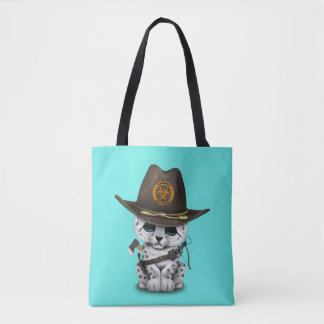 Cute Snow Leopard Cub Zombie Hunter Tote Bag