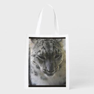 Cute Snow Leopard Market Totes