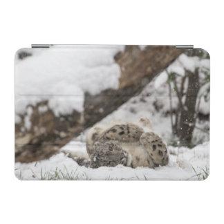 Cute Snow Leopard Plays in Snow iPad Mini Cover