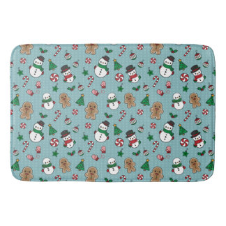 Cute Snow Pals bath mat
