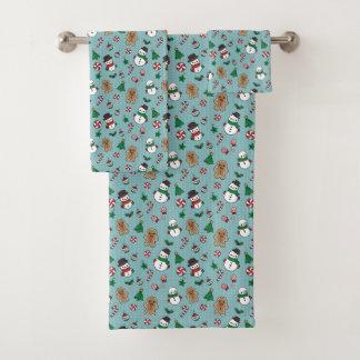 Cute Snow Pals  bathroom towel set